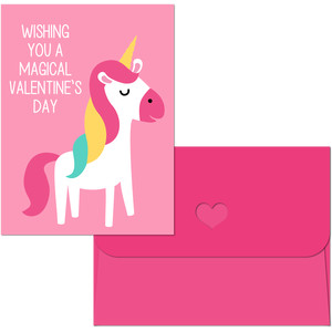 valentine print and cut unicorn