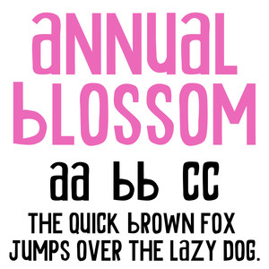 cg annual blossom font
