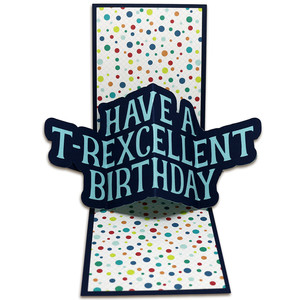 t-rexcellent birthday twist pop card