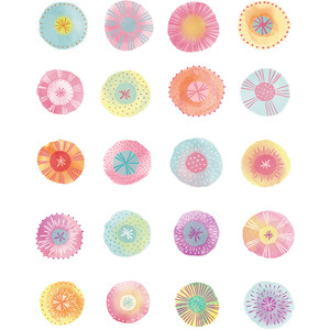 spring party watercolor stickers
