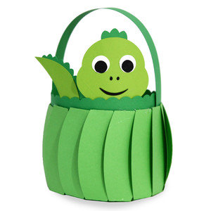 cute dinosaur basket