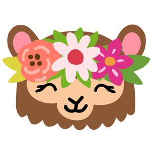 monkey with flower crown