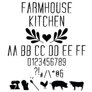 farmhouse kitchen font