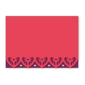 scallop edge heart card