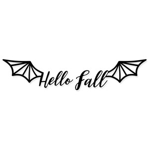 hello fall - bat wings