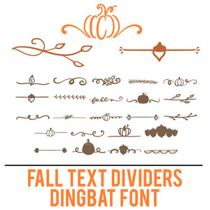 fall text dividers dingbat
