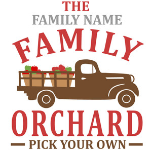 custom family orchard sign