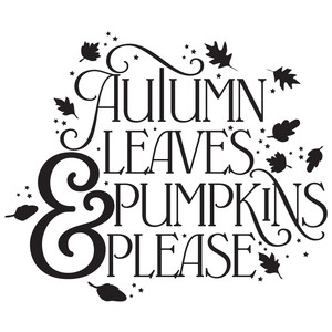 autumn leaves & pumpkins please quote