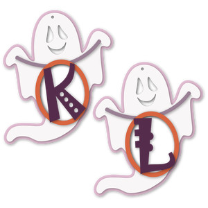 ghost tag k or l letter card