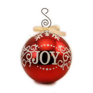 christmas ball joy swirl vinyl overlay
