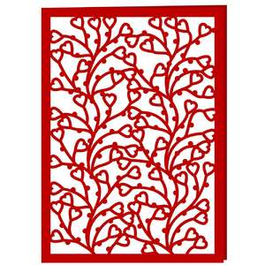 hearts lace card
