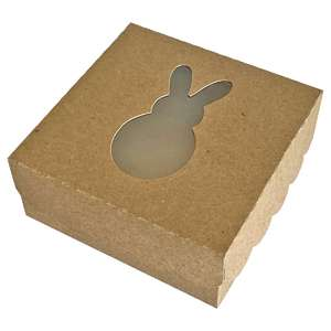 bunny window cookie box with scallop lid