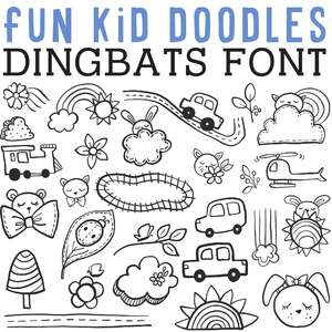 cg fun kid doodles dingbats