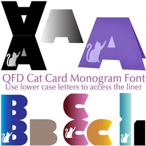 qfd cat card monogram font