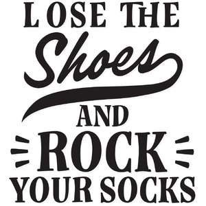 lose the shoes and rock your socks