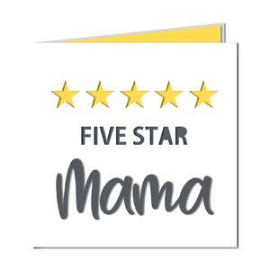 '5 star mama' cut out card