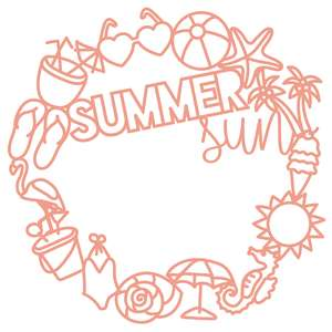 summer sun in wreath