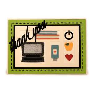 teacher laptop thanks shadowbox card