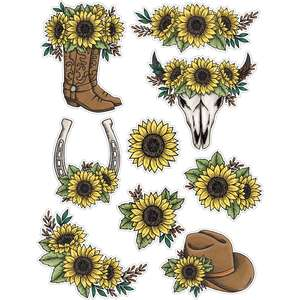 sunflower sticker sheet