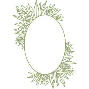 oval leaf frame
