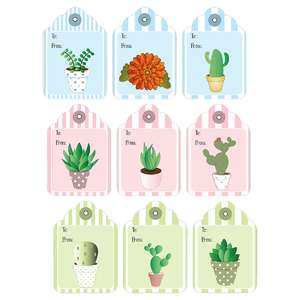 plant-themed gift tags