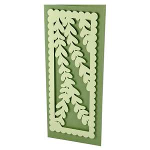 vines slim stencil card