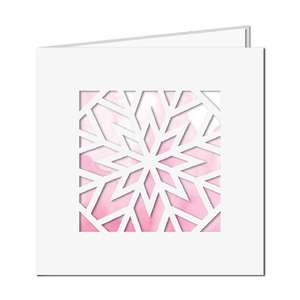 geometric snowflake square card
