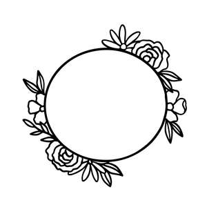 flower wreath circle garland