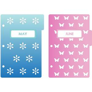mini 3-ring binder decorative may & june dividers