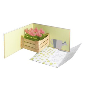 flowers card and envelope