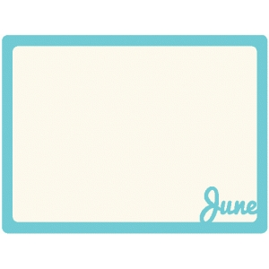 june journaling card