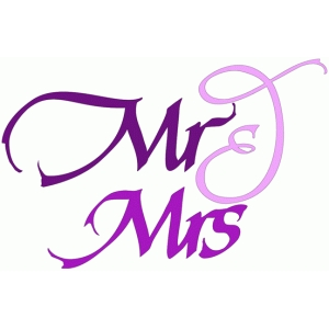 mr & mrs - calligraphic
