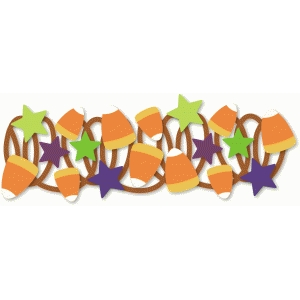 candy corn and stars border