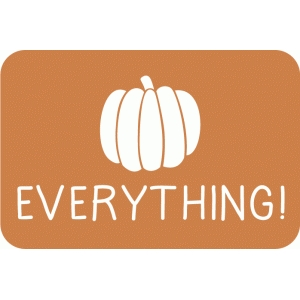pumpkin everything 4 x 6 journaling card