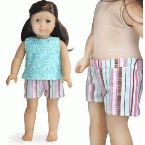 shorts for 18-inch doll