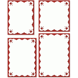 4 vintage scallop with hearts card front basic shapes