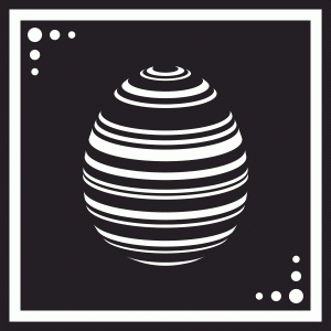 easter egg tile - striped