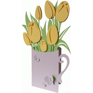 tulips layer card