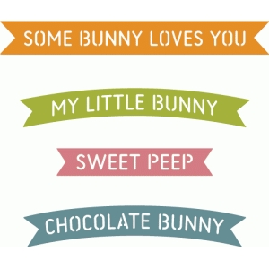 easter bunny banner words
