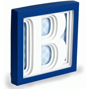letter b - 3d alphabet shadow box