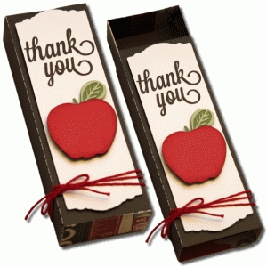 3d sliding teacher thank you box