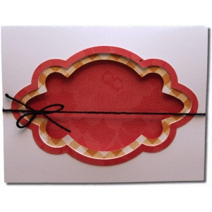 decorative label fancy layers a2 card