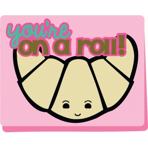 on a roll kawaii card
