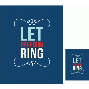let freedom ring traditional print and cut quote card