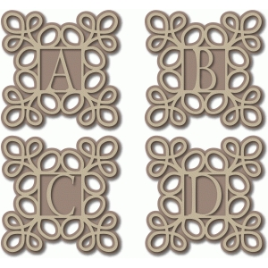 scroll monogram abcd