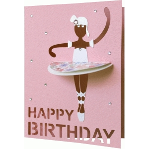 a2 happy birthday ballerina card
