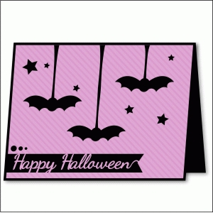 hanging bat card