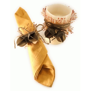 candle cuff wrap and napkin ring 3d acorn