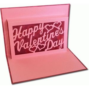 valentine's day frame pop-up card