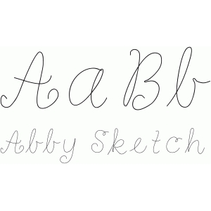abby sketch font